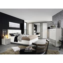 Chambre adulte moderne blanc/béton Carolina