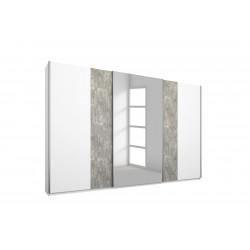 Armoire moderne 278 cm blanc/béton Carolina