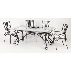 Table et chaises fer forgé MARYLENE