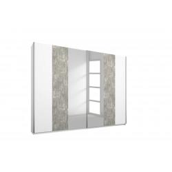 Armoire moderne 226 cm blanc/béton Carolina I