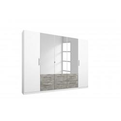 Armoire moderne 226 cm blanc/béton Carolina