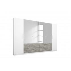 Armoire moderne 271 cm blanc/béton Carolina