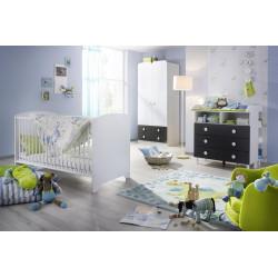 Chambre bébé contemporaine gris/blanc Flipper