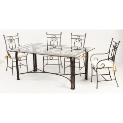 Table et chaises fer forgé VIVALDI