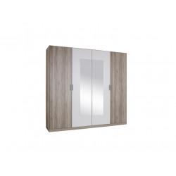 Armoire adulte contemporaine226 cm chêne/blanc Natalia