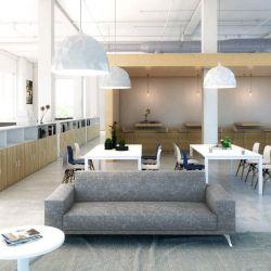 Canapé d'accueil moderne en tissu 3 places Jenny