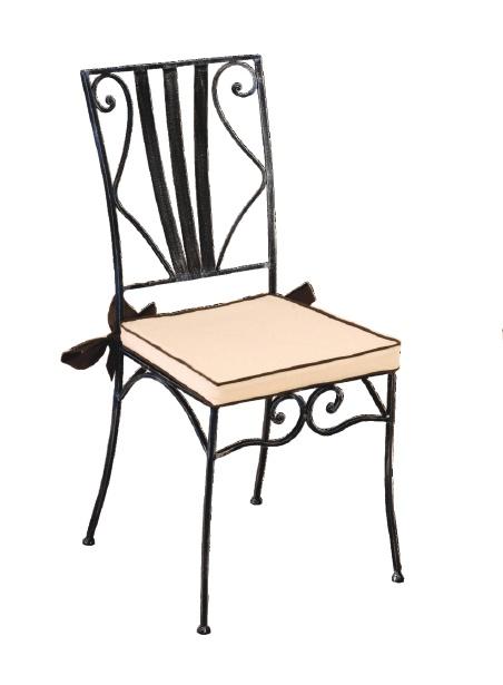 Chaise fer forgé (lot de 2) MARYLENE