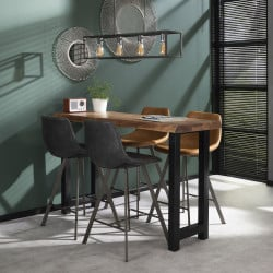 Table de bar industrielle en bois massif Oliver I