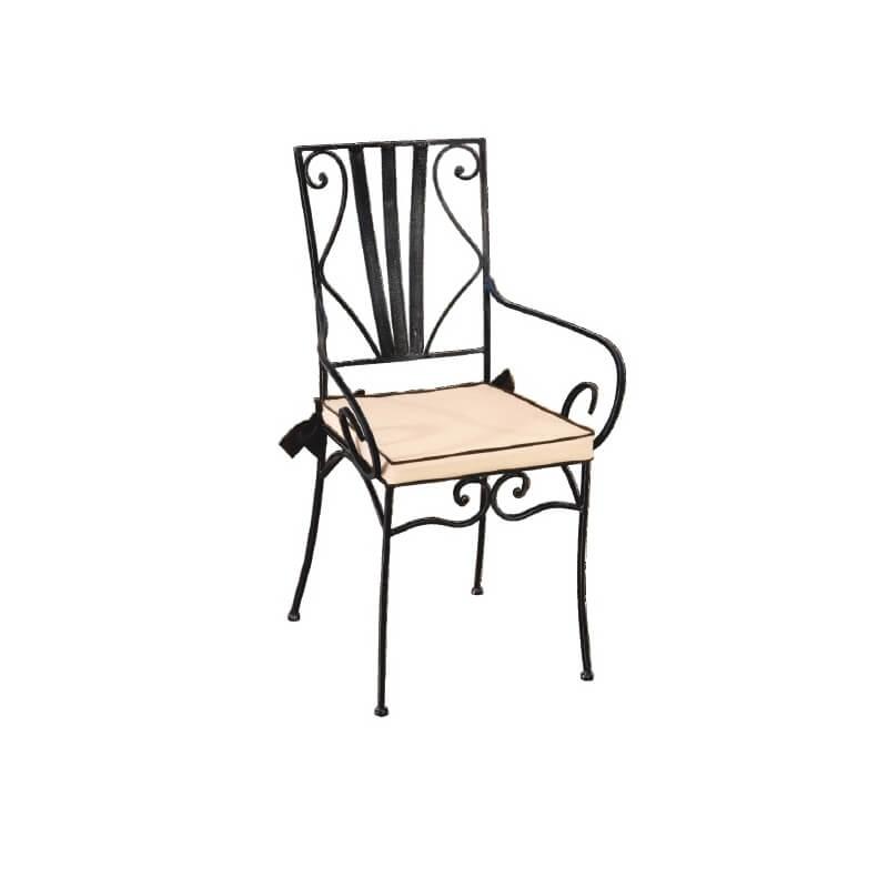 fauteuil fer forg marylene matelpro. Black Bedroom Furniture Sets. Home Design Ideas