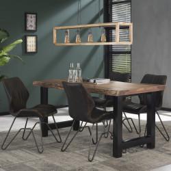 Table de bar industrielle en bois massif Oliver II