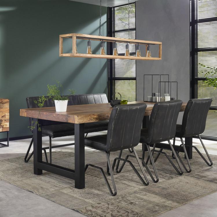 Table De Bar Industrielle En Bois Massif Oliver Iii Matelpro
