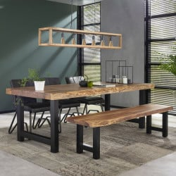 Table de bar industrielle en bois massif Oliver IV