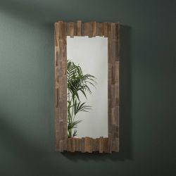 Miroir rectangulaire contour en bois Baïla