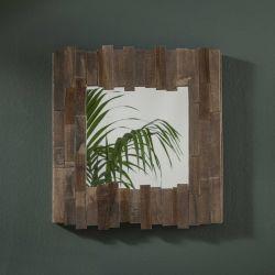 Miroir carré contour en bois Marsia