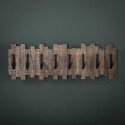 Portemanteaux à 8 crochets en bois Clara