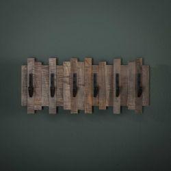 Portemanteaux à 6 crochets en bois Lara