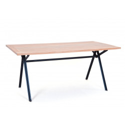 Table industrielle en bois massif Celeste