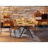 Table industrielle en bois massif Celeste