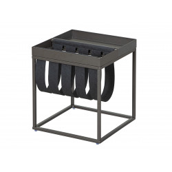 Table d'appoint industrielle en métal Franky