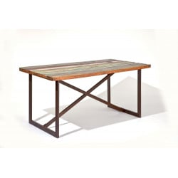 Table vintage en bois massif multicolore Rosana II