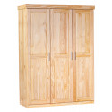 Armoire contemporaine 140 cm en pin massif Kona
