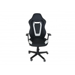 Fauteuil de bureau moderne en PU noir/blanc Sophia
