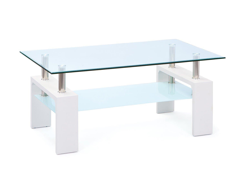 Table basse moderne en verre Alona