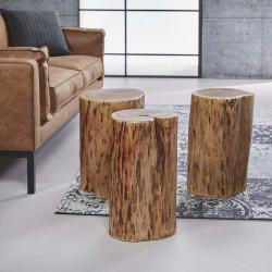 Table d'appoint en bois massif Regina