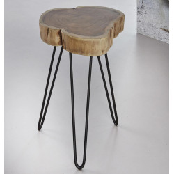 Tables d'appoints en bois massif (lot de 2) Roger