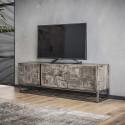 Meuble TV industriel en bois massif Laïa