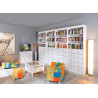 Meuble TV style campagne en pin massif blanc 118 cm Florence