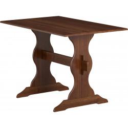 Table contemporaine en pin massif marron Costarica