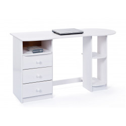 Bureau informatique contemporain en pin massif Florent
