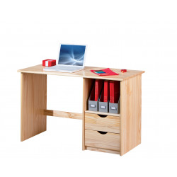 Bureau contemporain en pin massif Linus