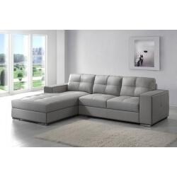 Canapé d'angle cuir SYLVIANE