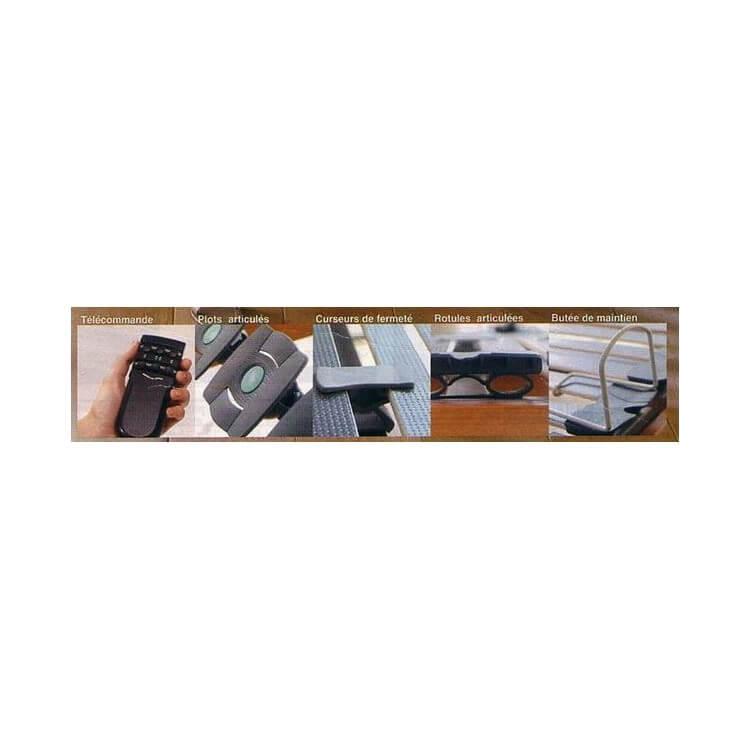 Ensemble literie latex relaxation à plots électrique 2 x 80 x 200 cm BJORN