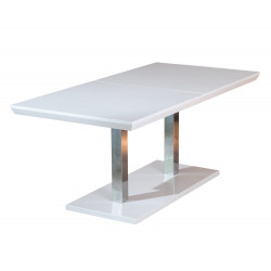 Table de salle à manger moderne blanche Edmon