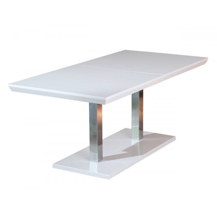Table De Salle A Manger Moderne Blanche Edmon Matelpro