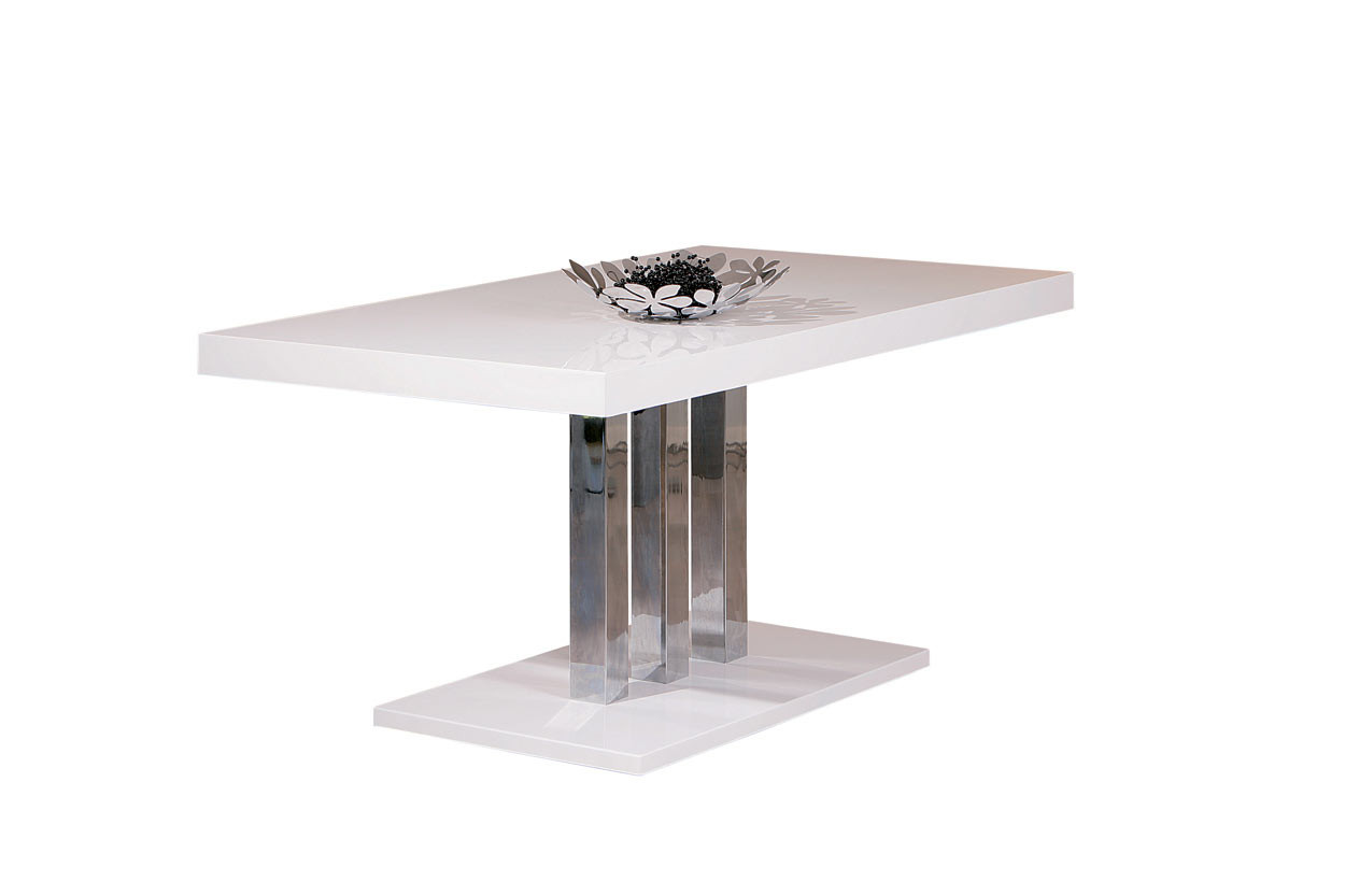 Table de salle à manger moderne blanche Plaza
