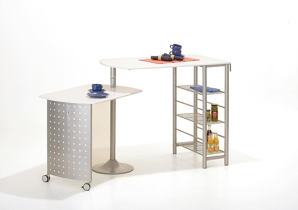 Table haute moderne modulable blanche Sacha