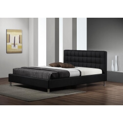 Lit adulte design coloris noir Maxime