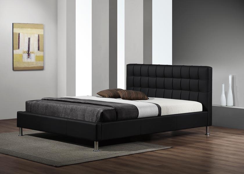 Lit adulte design coloris noir Maxime