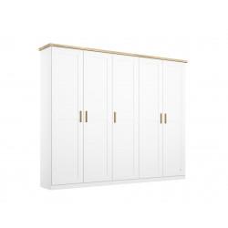 Armoire scandinave 231 cm blanc/chêne Fabrizio