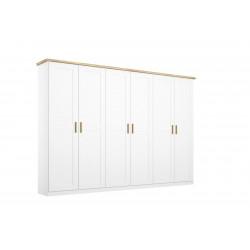 Armoire scandinave 276 cm blanc/chêne Fabrizio