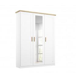 Armoire scandinave 141 cm blanc/chêne Fabrizio I