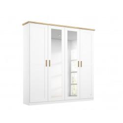 Armoire scandinave 186 cm blanc/chêne Fabrizio I
