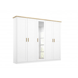 Armoire scandinave 231 cm blanc/chêne Fabrizio I