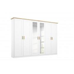 Armoire scandinave 276 cm blanc/chêne Fabrizio I