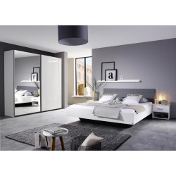 Chambre adulte contemporaine blanche Holly