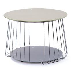 Table basse moderne en verre Ø 70 cm Zelda